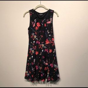 Express Black Floral Mini Dress